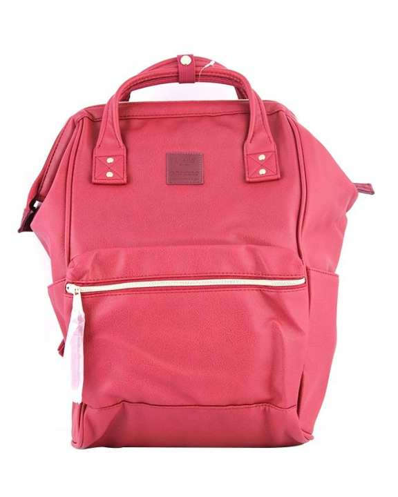 ANELLO Synthetic Leather Mouthpiece Backpack – Wine