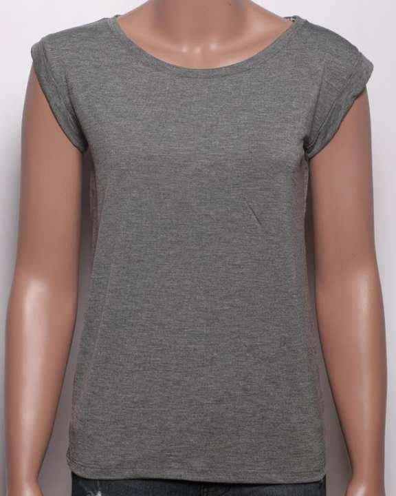 Bench Women's Wear Plain Designed Sleeveless Tops - Grey