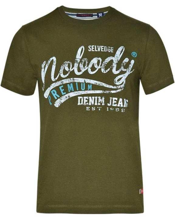 NOBODY Men's Wear Short Sleeve T-shirt - Army Green