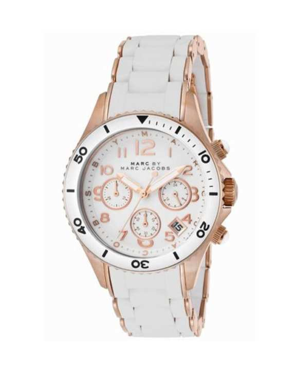 Marc by Marc MBM2547 Ladies' Wear Metal Strap Chronograph Watch - White