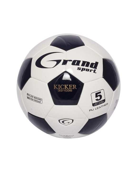 GRAND SPORT Men's Soccer Ball - White/Size-5