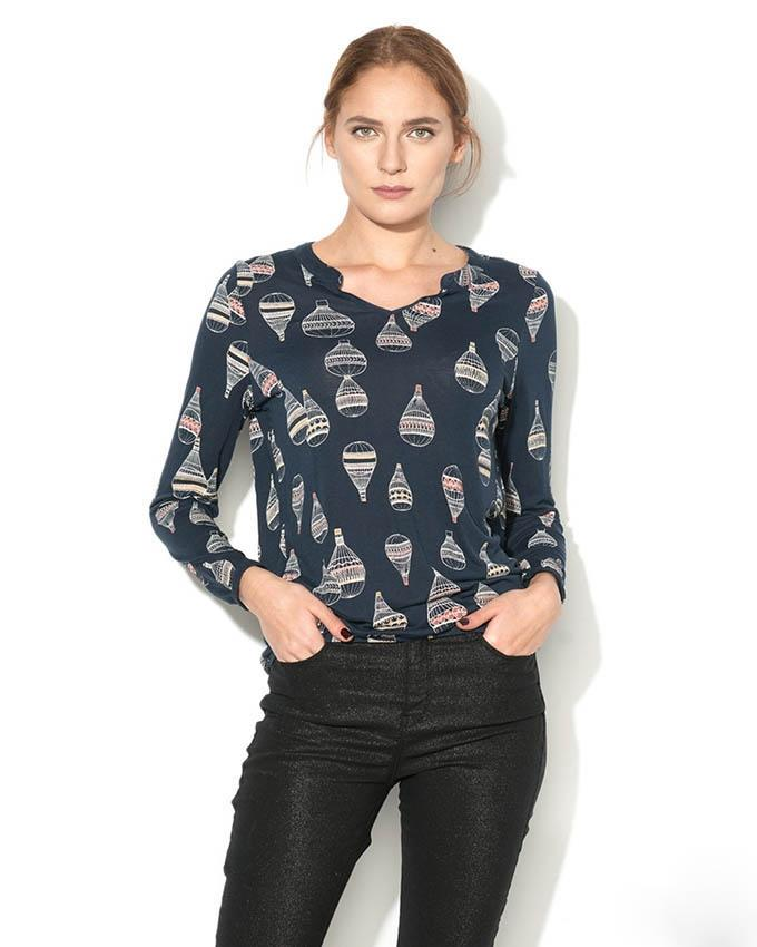 Esprit Women's Longsleeve Top - Navy