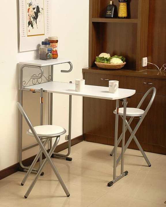 Minson Designer Furniture ေခါက္သိမး္ႏိုင္ေသာ Bar Table Set - Black