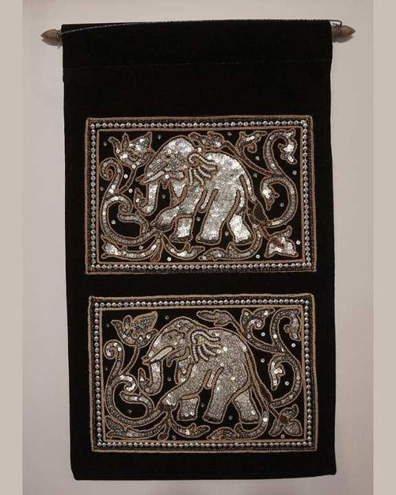 Three Seasons Myanmar Traditional Design Wallpaper - Black