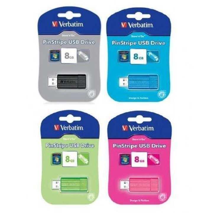 Verbatim Verbatim PinStripe USB Drive - 8GB