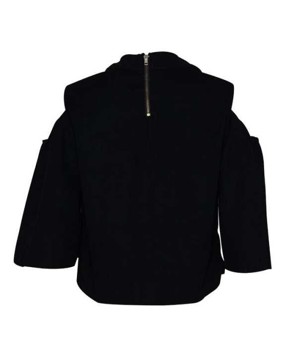 Happiness Plus Size Women's Wear Half Sleeve Blouse - Black