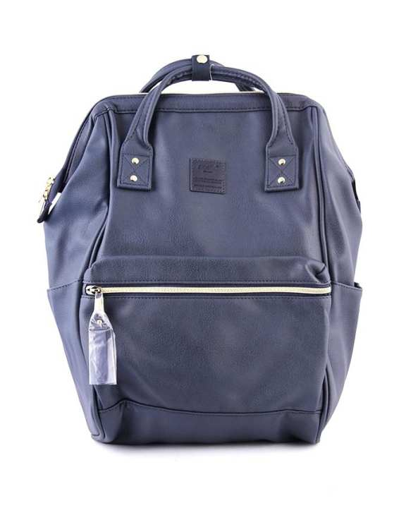 ANELLO Synthetic Leather Mouthpiece Backpack – Navy