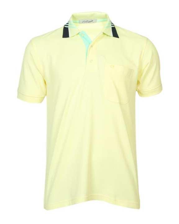 Crocodile Short Sleeve Plain Polo Shirt - Light Yellow