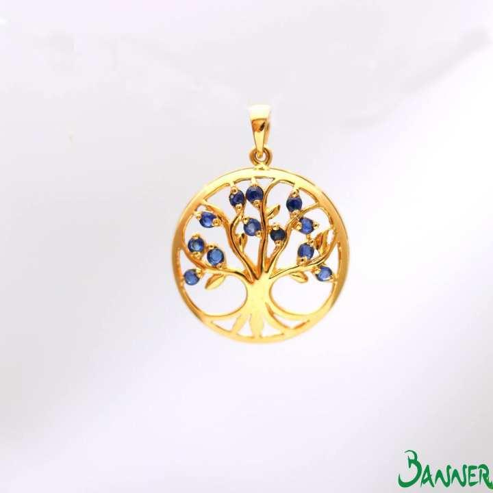 Tree Of Life Sapphire Pendant