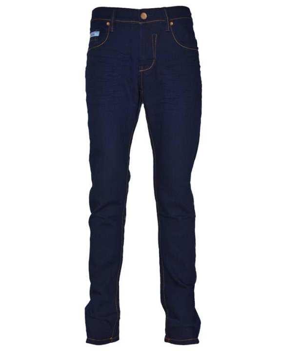 NOBODY Men's Wear Skinny Long Pants - Dark Blue