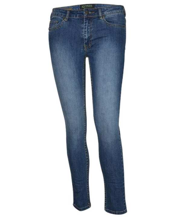 G-TREE Lady Long Pants-Skinny-Blue