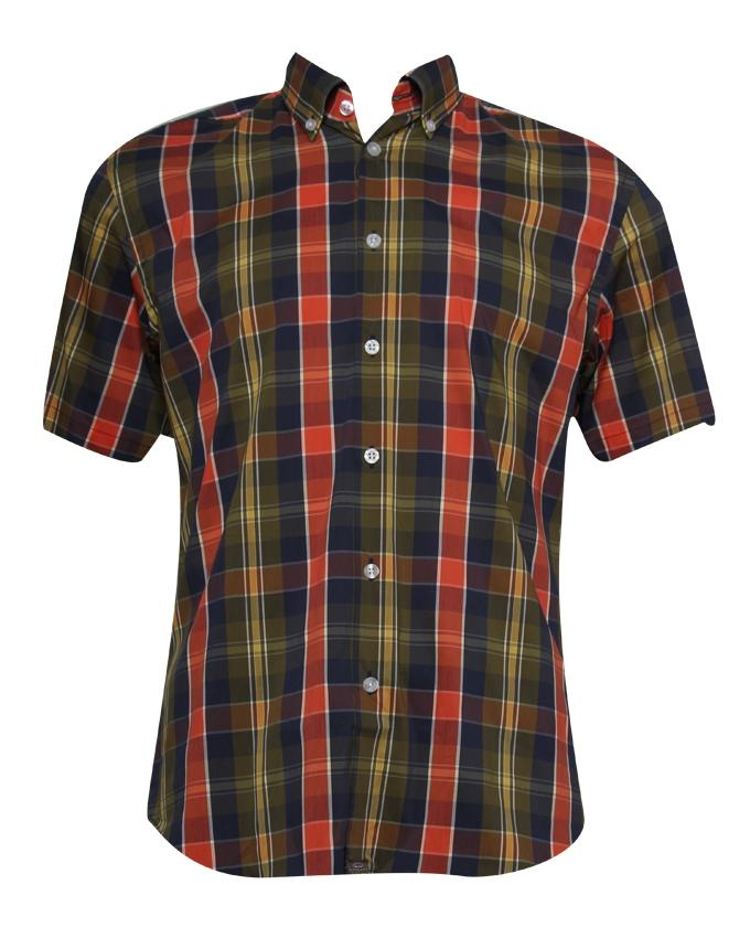 Casablanca Men's Short Sleeve Shirt - Red