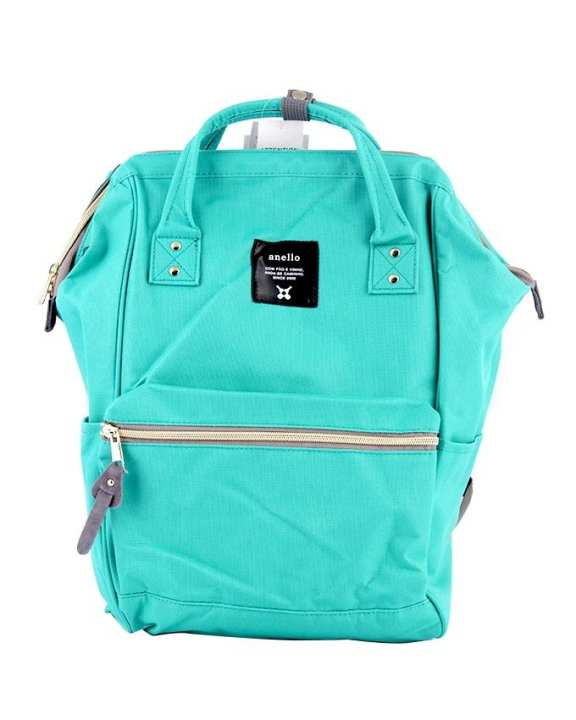 ANELLO Mouthpiece Polyester Canvas Backpack - Emerald Green