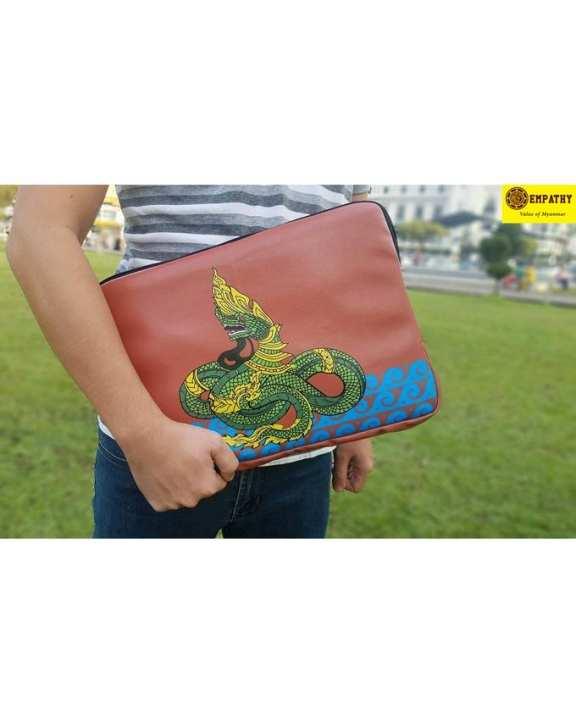 "EMPATHY Dragon Design Laptop Sleeve (14"" x 10"") - Red"