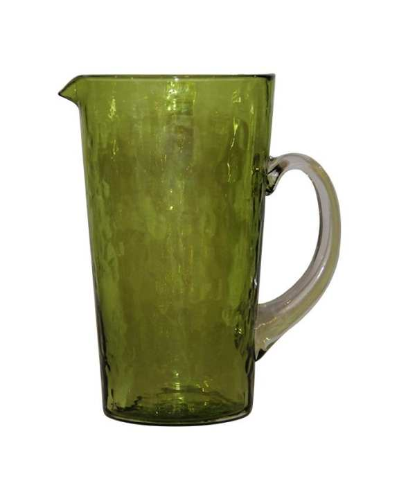 Living Square Jar With Handle - Green