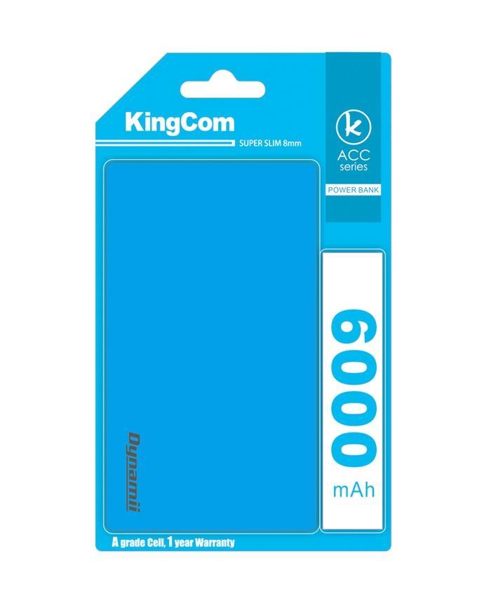 KingCom Dyanmii Slim 6000mah Power Bank_Blue
