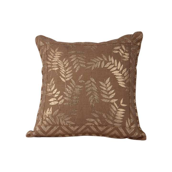 """The Cushion Factory Golden Leaves Cushion Cover - 16""""X16"""""""