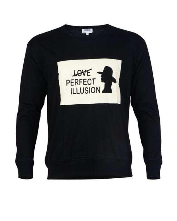 Black Sheep Sticker Printed Long sleeve T-shirt for men - Black