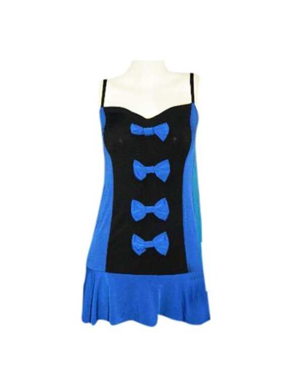 Angel Sleeveless short dress for women - Blue
