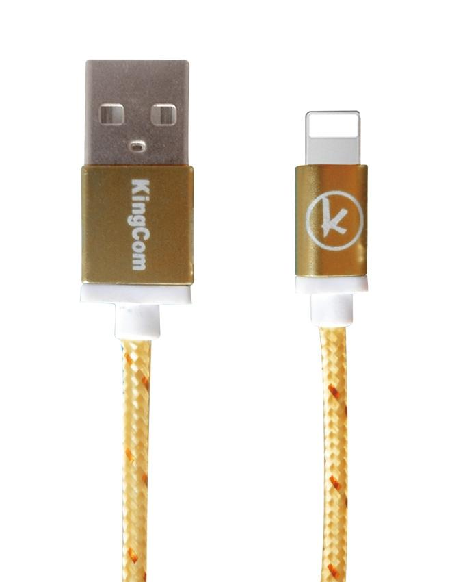 KingCom Cable for iphone 5 Kable T1+C7_Yellow