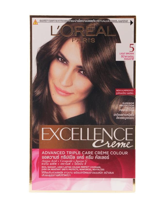 Excellence Crème Advanced Triple Care Creme Color - 5 (Light Brown)