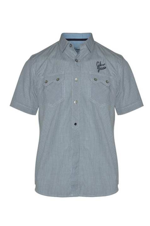 G-TREE Short Sleeve Casual Cotton Shirt – Grey