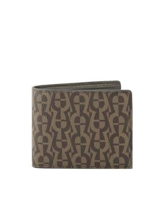 Aigner Men's Logo Embroidered Wallet - Fango