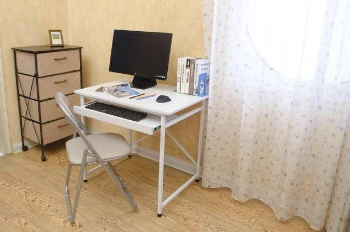 Minson Designer Furniture (DIY) Computer Table (Keyboard) - Black (Displayed Item)