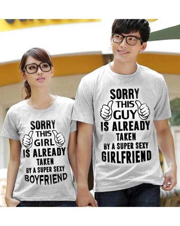 SORRY Designed Couple T-shirt - Grey
