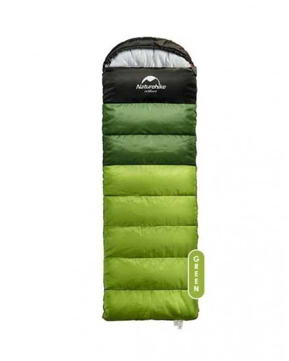 Comfort 5'C - Outdoor Camping Sleeping Bag With Hood (Green) - Naturehike