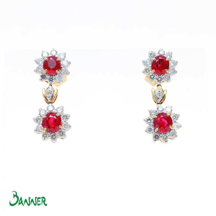 Hna-Sint Ruby Earrings