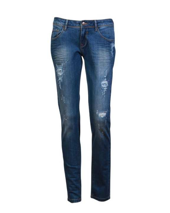 MC JEANS Women's Ripped Jeans - Blue