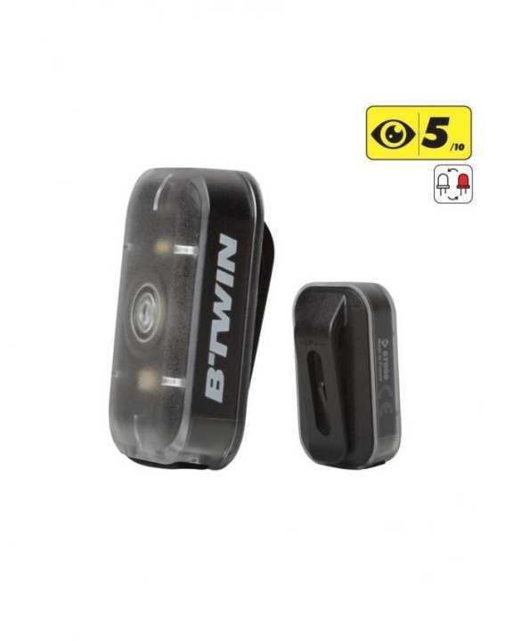 RUN B-TWIN VIOO CLIP 500 USB DUAL BIKE LIGHT (2 Sets)