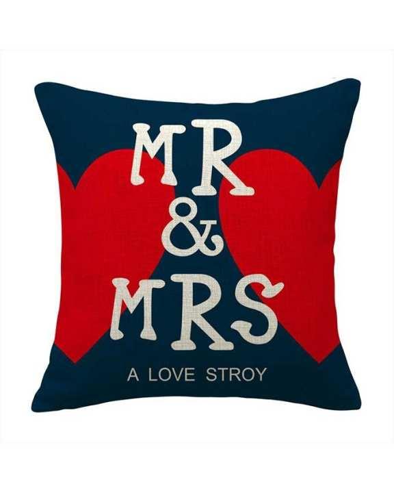 """Modern House """"Mr & Mrs"""" Pillow"""