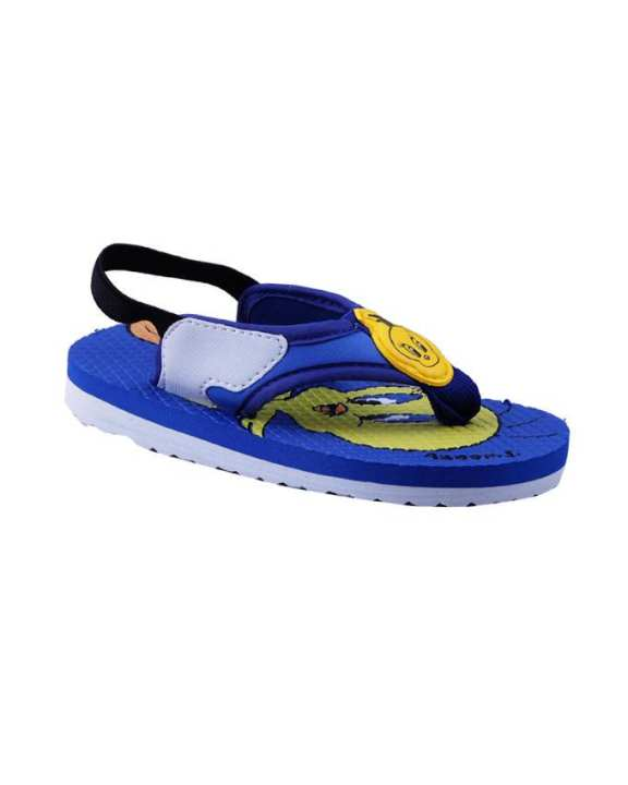 Kangaroo Child's Slippers – Blue