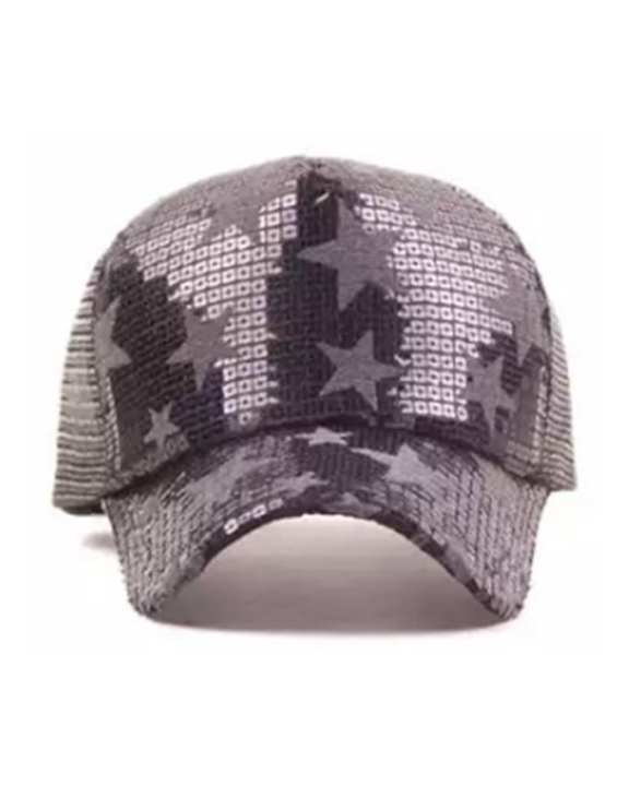 Cocotrend Five-Pointed Star Pattern Mesh Cap - Grey