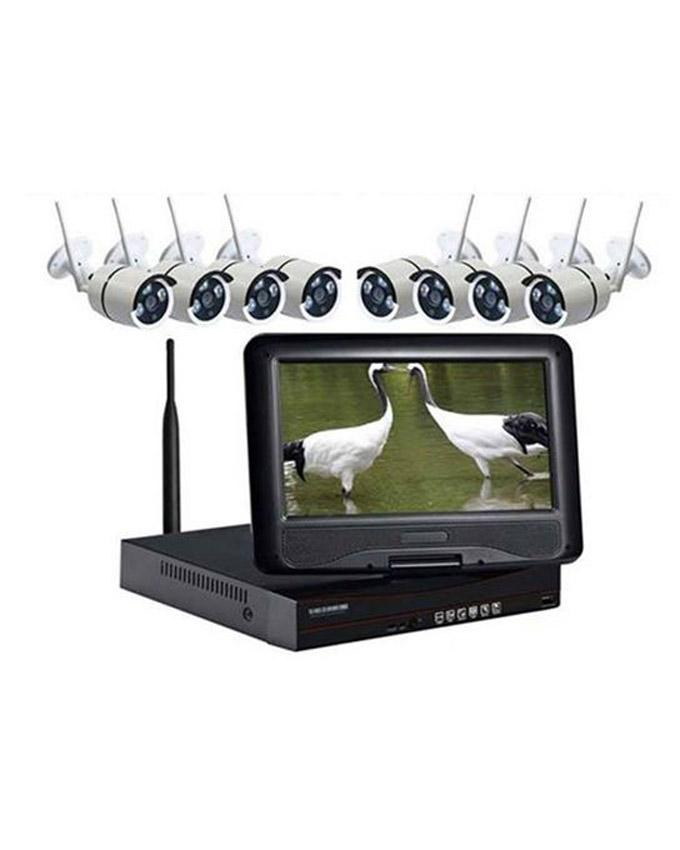 "Matrix Wireless CCTV Camera one set with 10""LCD  Display(8CH)+ HDD 1000GB"