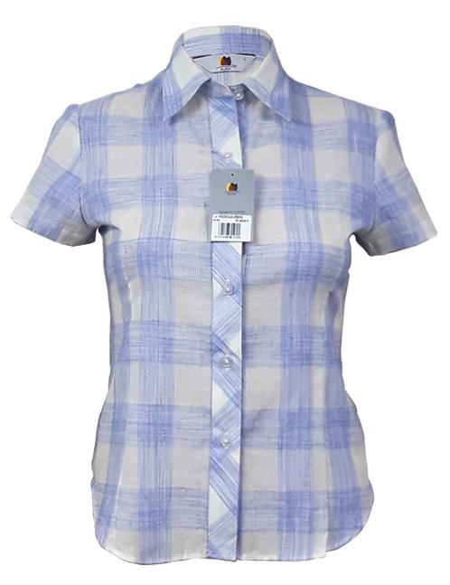 Aura Women's Short Sleeve Shirt - Sky Blue