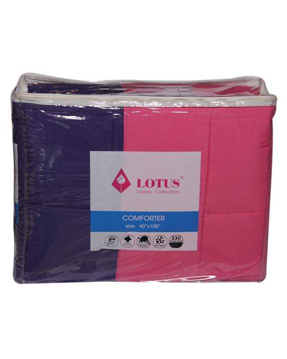 "LOTUS Lovely Collection Comforter (90""x100"") 12 in One"