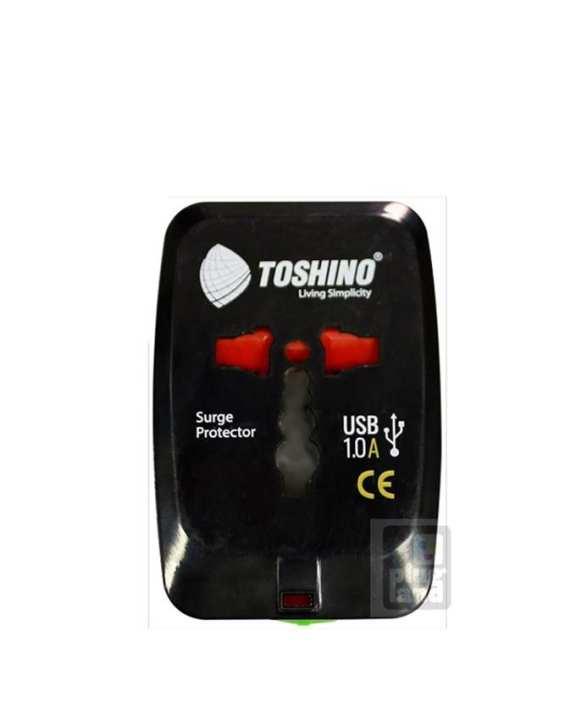 Toshino DE-205 USB 4 in 1 1 USB Travel Adapter - Black
