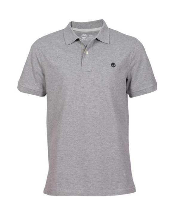 Timberland Men's Short Sleeve Polo Shirt - Grey