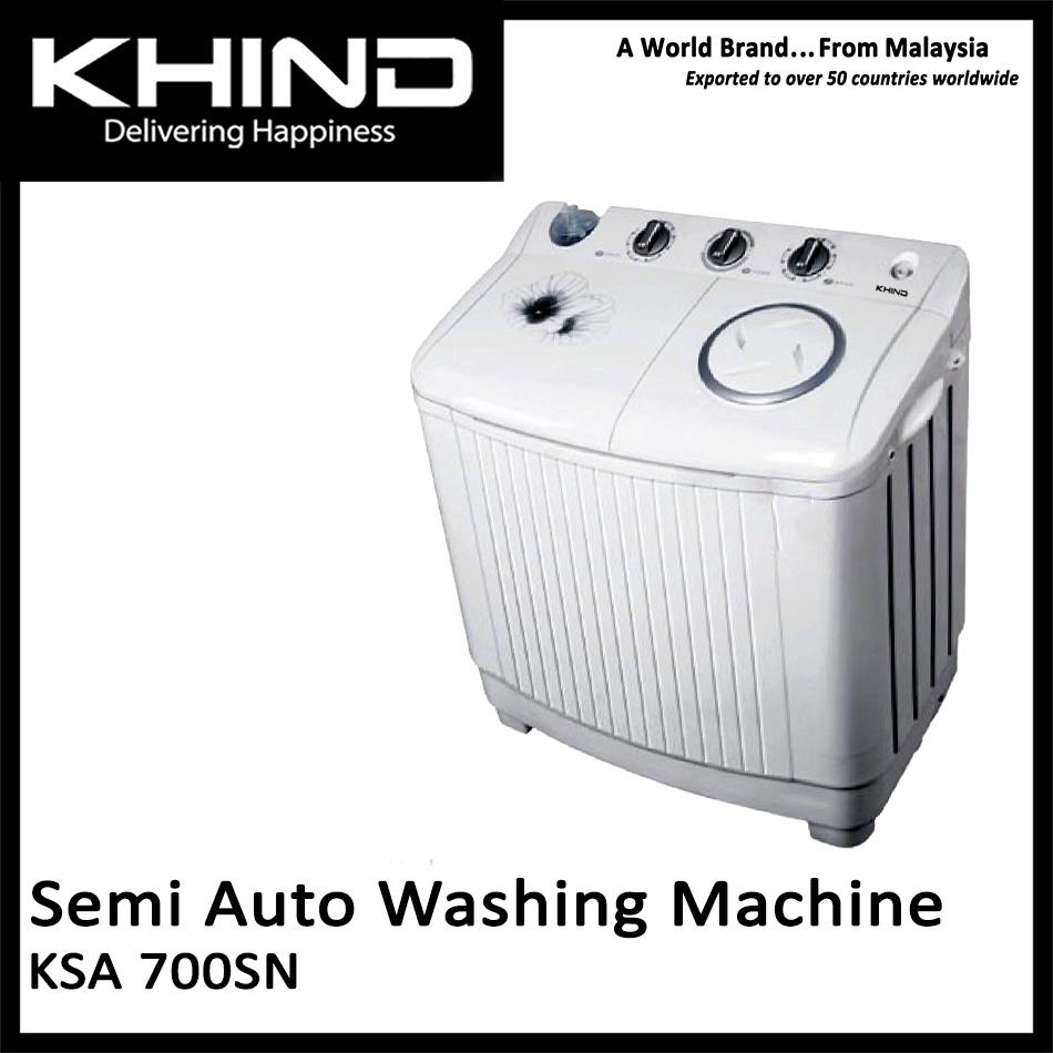 KHIND KSA 700SN - Khind 7.0 Kg Semi Auto Washing Machine