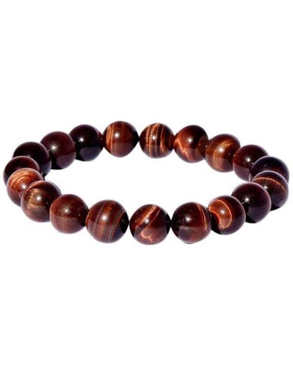 Infinity Tiger's Eye Bracelet – Red Brown