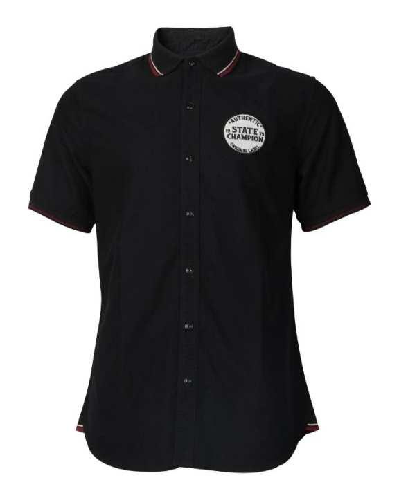MC JEANS Men's Wear Sport Shirt -Black