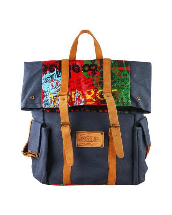 VESTIGE Printed Knapsacks Bag - Blue