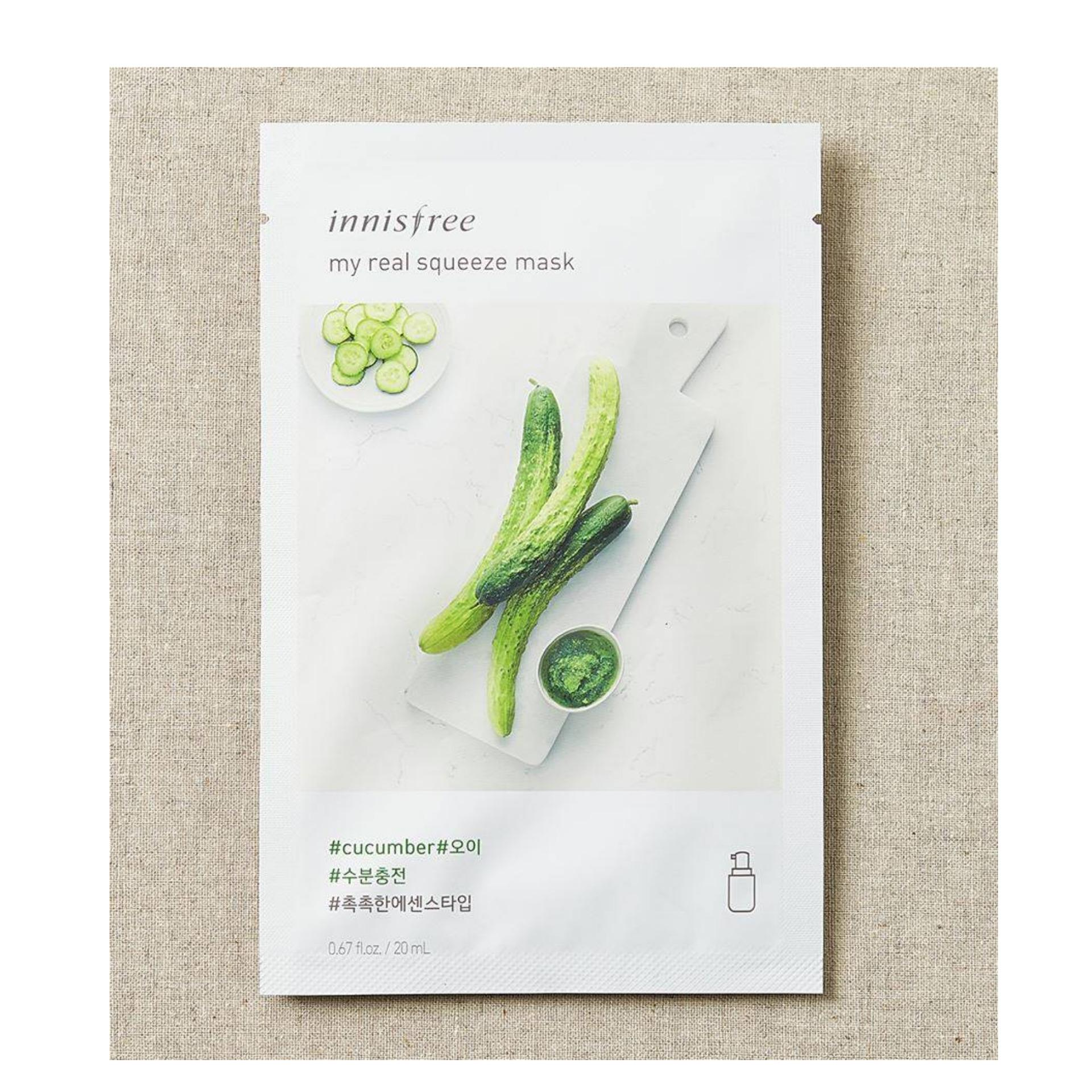 Buy Dermalbenchinnisfree Face Mask Packs At Best Prices Online Innisfree Its Real Squeeze Bija 20ml My Cucumber
