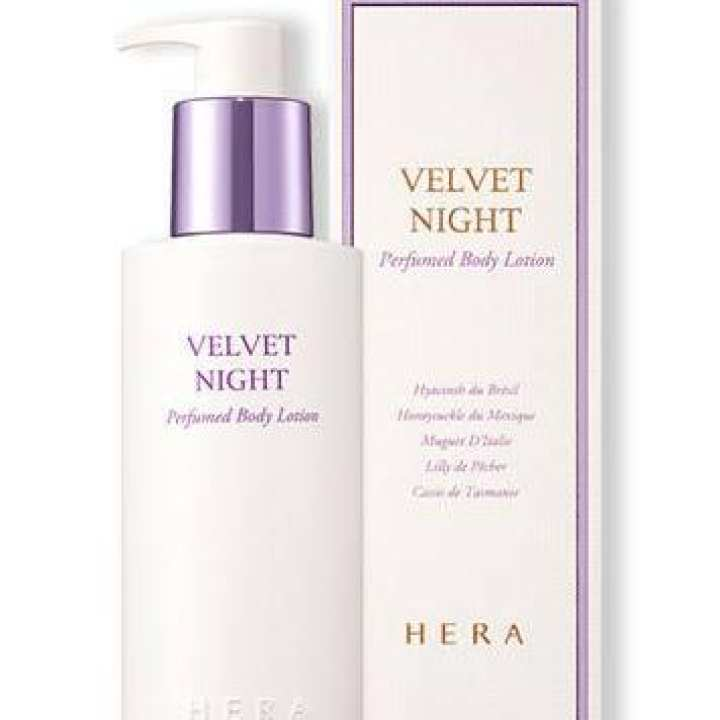 Hera velvet night perfume body lotion