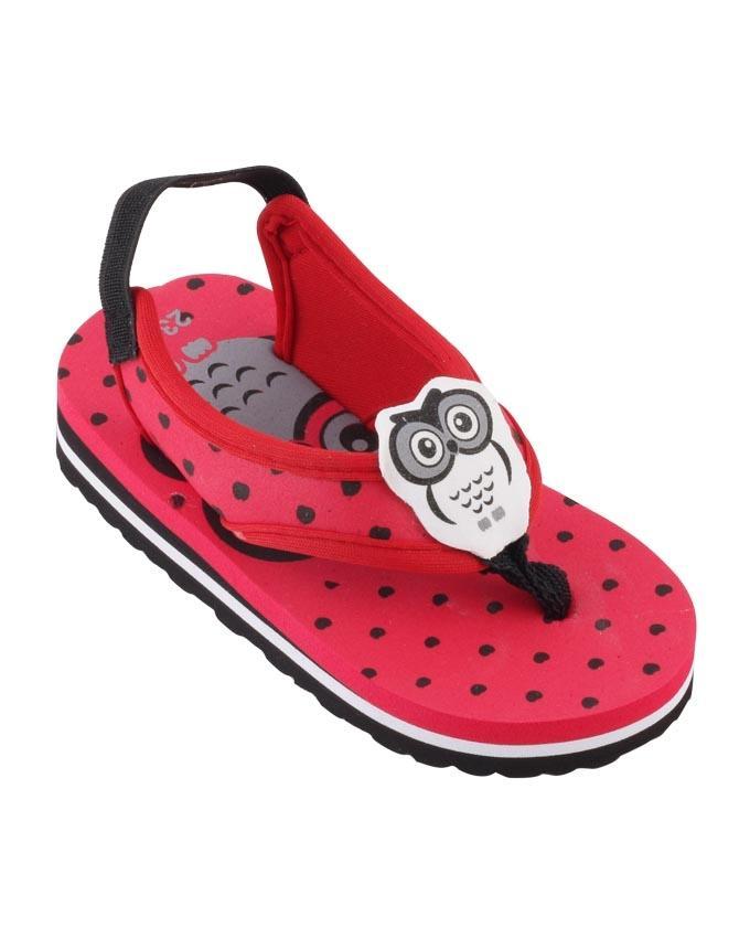 e54951d3c6765e Kangaroo Baby s Slingback Flip-Flops - Red