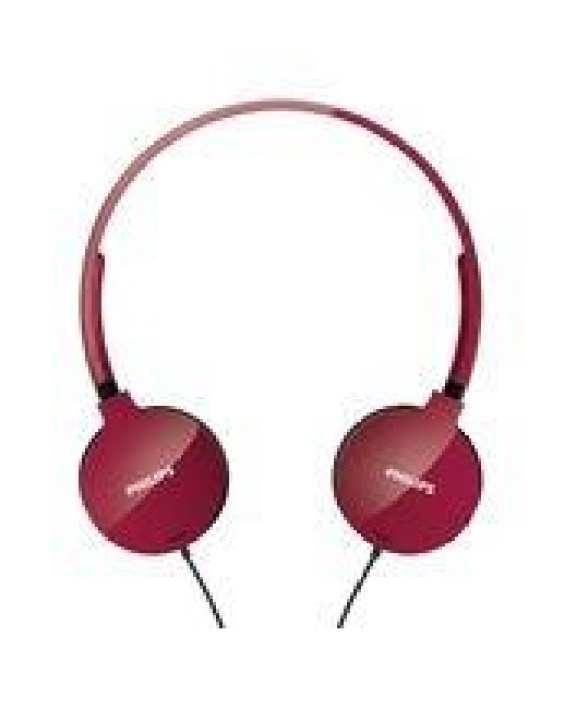 Philips SHL1700 Lightweight Headphones - Red