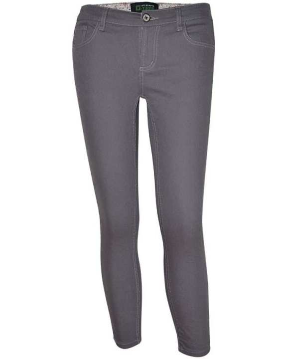 G-TREE Lady Pants Capri-Skinny-Grey